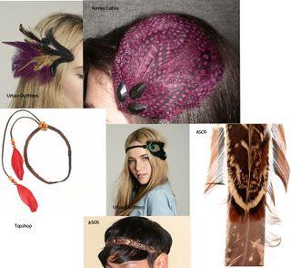 Feathered Headbands